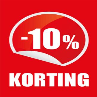 10% korting vanaf 20 euro!