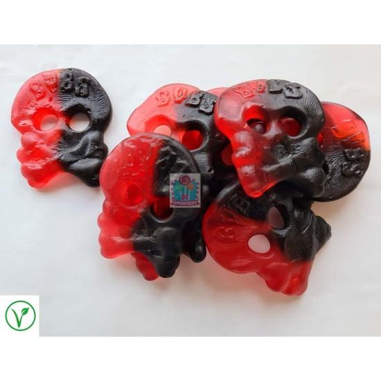 Bubs Raspberry / Liquorice Skulls