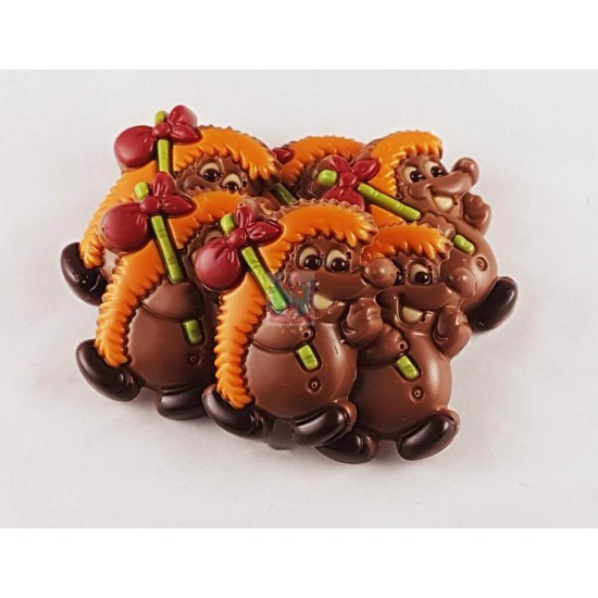 Chocolade egel met rugzak